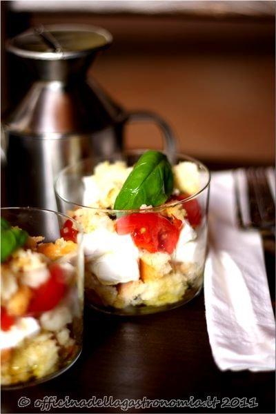 Panzanella Tricolore nel Bicchiere