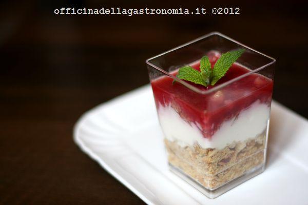 Cheesecake croccante nel bicchiere