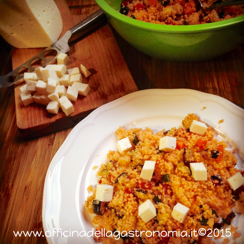 Cous Cous tiepido al Pomodoro, Verdure & Caciotta