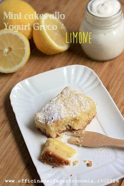 Mini-cakes allo Yogurt Greco e Limone