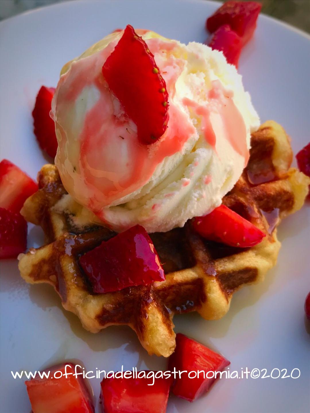 Waffle di Liegi (Gaufres Liégeoises)