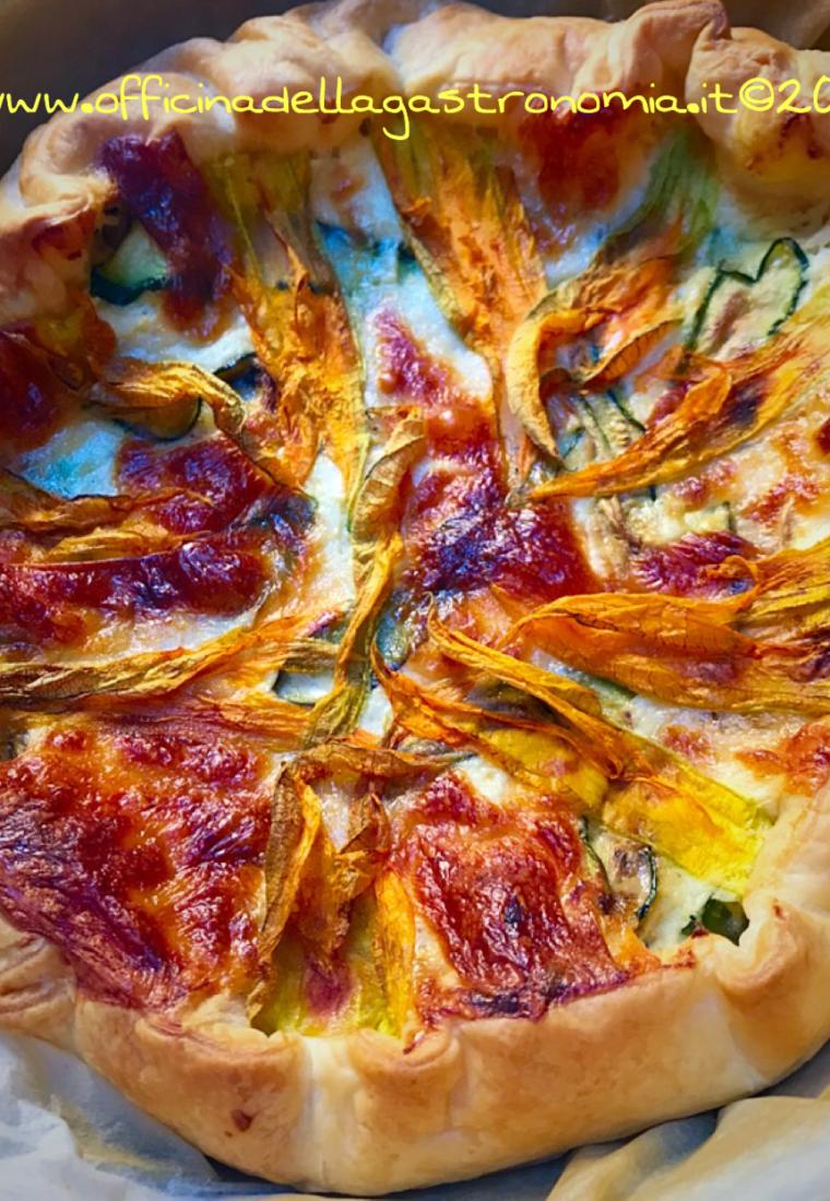 Torta Salata con Fiori di Zucca e Scamorza